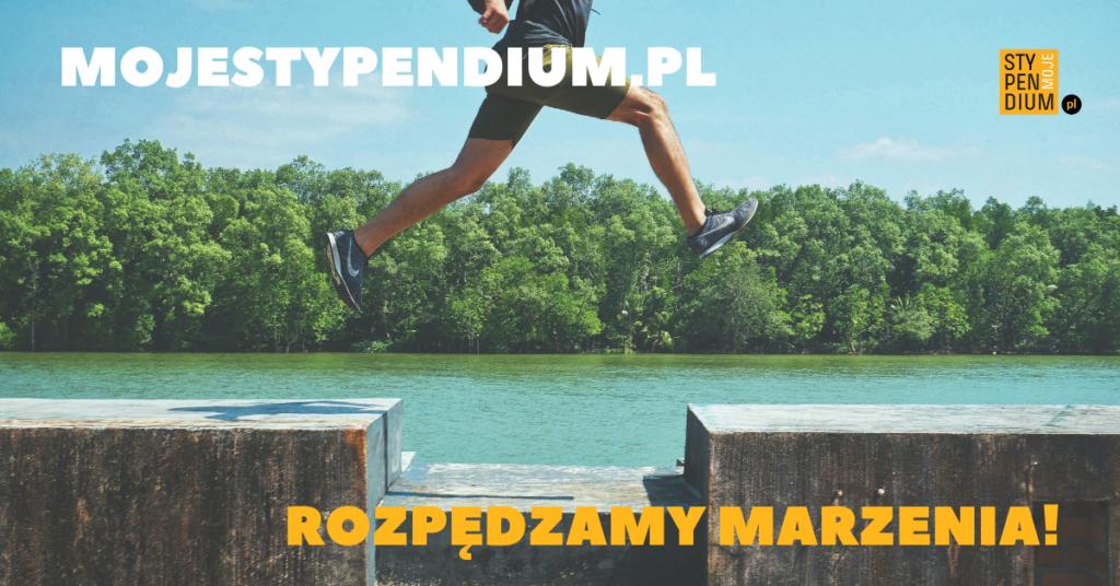 Plakat promujący portal mojestypendium.pl