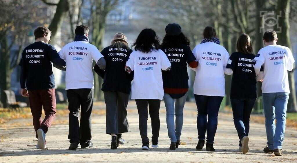 На фото члени Європейського Корпусу Солідарності